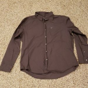 American Eagle Brown button down